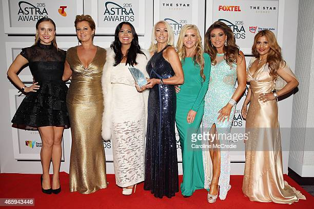 Members from Real Housewives Melbourne Jackie Gillies Chyka Keebaugh Lydia Schiavello Janet Roach Gamble Breaux Gina Liano and Pettifleur Berenger...