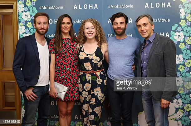 Members from the cast of Elephant Man Eric Clem Emma Thorne Amanda Lea Mason Chris Bannow and Scott Lowell attend a VIP screening of 'Aloha' at Soho...