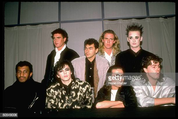 Members from the rock group Duran Duran and Culture Club w Simon Le Bon and Boy George