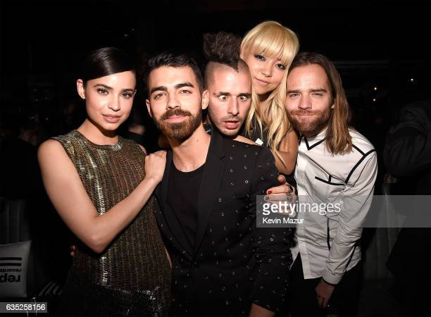 DNCE members Joe Jonas Cole Whittle JinJoo Lee and Jack Lawless JinJoo Lee and Jack Lawless attend the Republic Records GRAMMY after party at Catch...