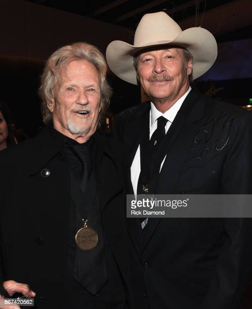 HOF members Kris Kristofferson and Alan Jackson attend the Country Music Hall Of Fame And Museum Hosts Medallion Ceremony To Celebrate 2017 Hall Of...