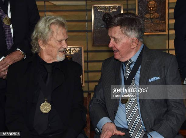 HOF members Kris Kristofferson and Bill Anderson attend the Country Music Hall Of Fame And Museum Hosts Medallion Ceremony To Celebrate 2017 Hall Of...