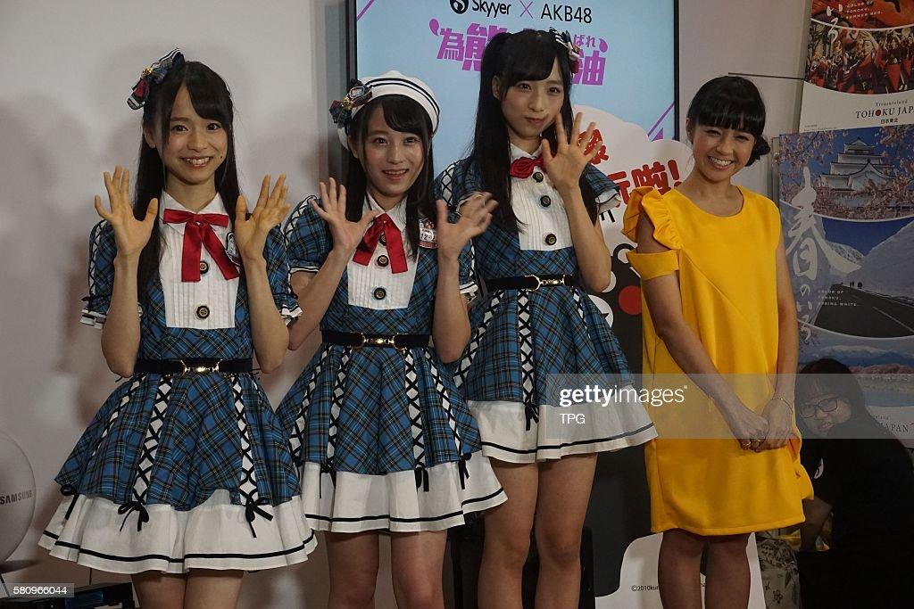 AKB48 members Kurano Onarumi,Sakaguchi Ngisa and Oguri Yui