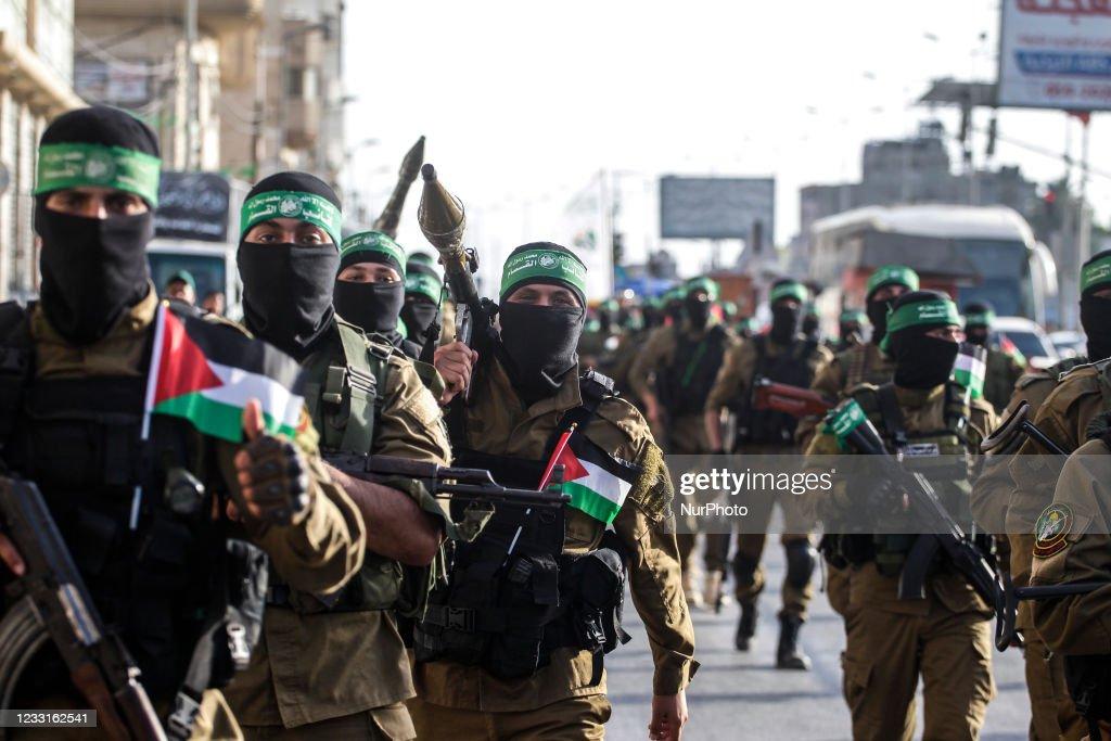 Military Parade Of The Ezz-Aldine Al-Qassam Brigades In Gaza : Nachrichtenfoto