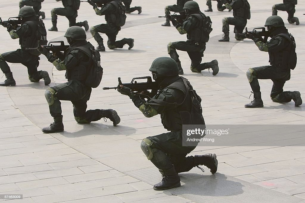 Beijing Launches Olympic Security Field Training Program : News Photo