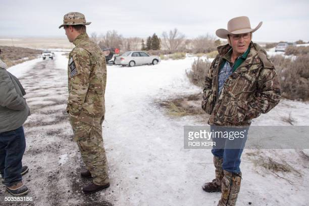 Members of a group of armed antigovernment protesters are seen at the Malheur National Wildlife Refuge near Burns Oregon January 4 2016 The FBI on...