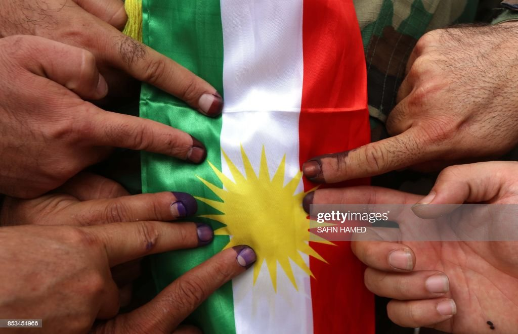 IRAQ-KURDS-REFERENDUM-VOTE : News Photo