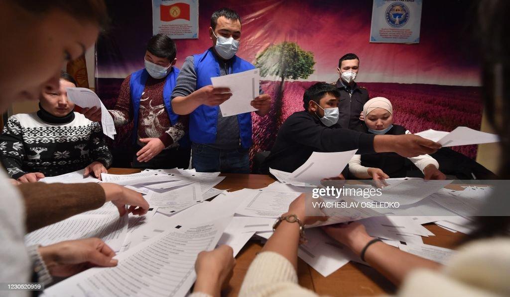 KYRGYZSTAN-POLITICS-VOTE : News Photo