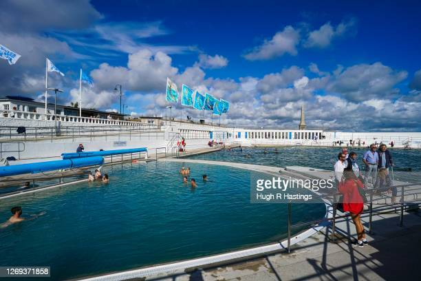 Members of a local family with a long history of using the Jubilee Pool Lido become the first people to experience the Lido's new geothermal pool on...