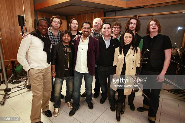 ACCESS *** Members of a new musical supergroup Pangea comprised of Kailash Kher from India King Sunny Ade from Nigeria Evan Joyce of USA William Ryan...
