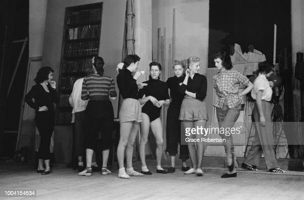 Members of a newlyformed Bluebell Girls dance troupe from England during rehearsals at the Nuevo Teatro in Milan November 1951 Original Publication...