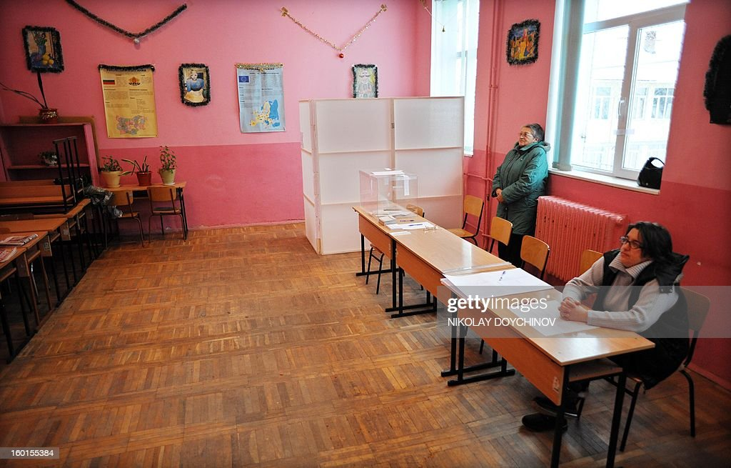 Members of a polling station wait in an empty poling station during the national referendum in the village of Bistritsa, near capital Sofia on January 27, 2013. Bulgarians voted Sunday on whether to revive plans ditched by the government to construct a second nuclear power plant, in the EU member's first referendum since communism. The referendum asks 6.9 million eligible voters: 'Should Bulgaria develop nuclear energy by constructing a new nuclear power plant?'