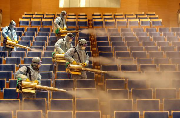 CHN: Disinfection Work At Theatre In Shenyang