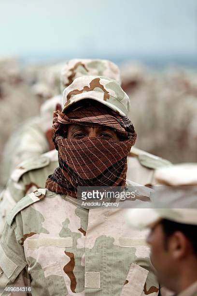 Members of a Sunni forces Hashdi Vatani get military training in a military camp in Seyhan district of Mosul Iraq to recapture Mosul from Daesh on...
