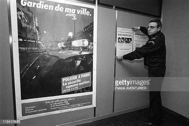 Members of Action Directe Nathalie Menigon and Joelle Aubron on France's mostwanted list On November 21st 1986 In ParisFrance