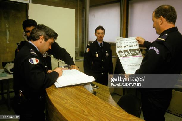 Members of Action Directe Nathalie Menigon and Joelle Aubron on France's mostwanted list on November 21 1986 in Paris France