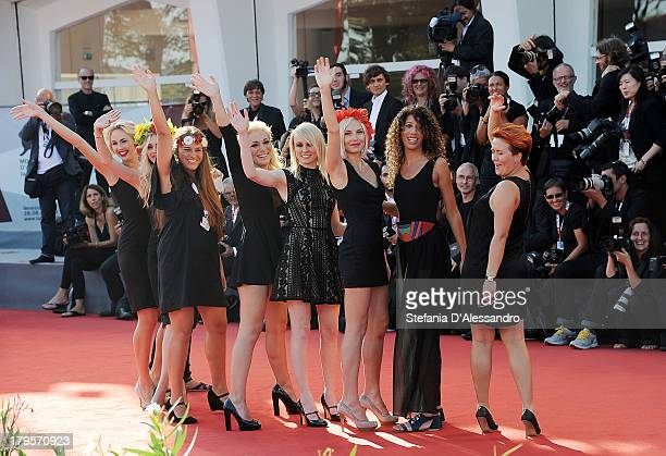 Members of activist group Femen attend the 'Sacro Gra' premiere during the 70th Venice International Film Festival at the Sala Grande on September 5,...