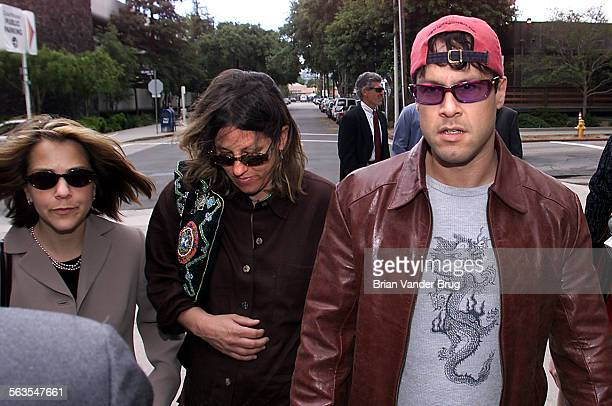 Members of actor Robert Blake's family left to right daughter Delinah niece Noreen Austin and son Noah Blake walk to Van Nuys Superior Court for a...