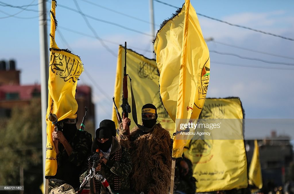52th Foundation anniversary of Palestinian Fatah movement : News Photo