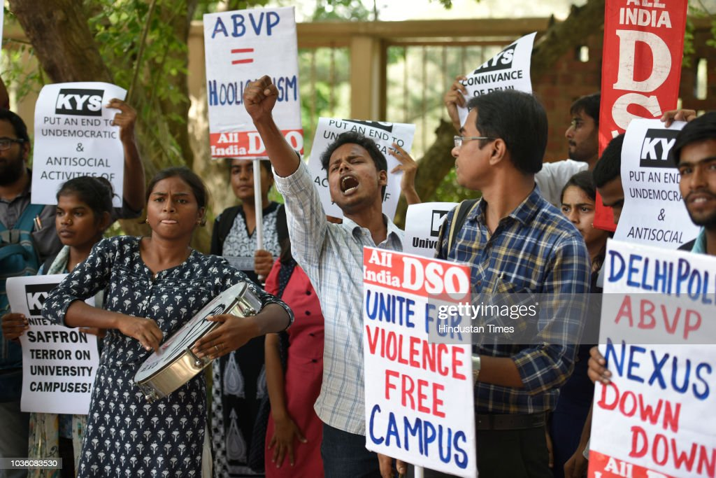 AIDSO Protest Alleged Violence By ABVP At JNU