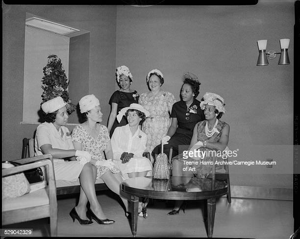 Members of Alpha Wives seated from left: Doris Clark Brown , Mary Jane Mitchell Page, Cecile Springer, Mary Page, Madelyn Hairston; standing: Alyce...
