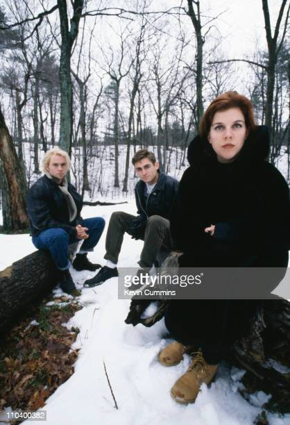 Members of American rock band Belly with singer Tanya Donelly Boston Massachusetts December 1992