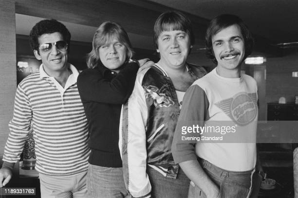 Members of American rock band Chicago UK 4th November 1976 they are musician and producer Laudir de Oliveira singersongwriter and bassist Peter...