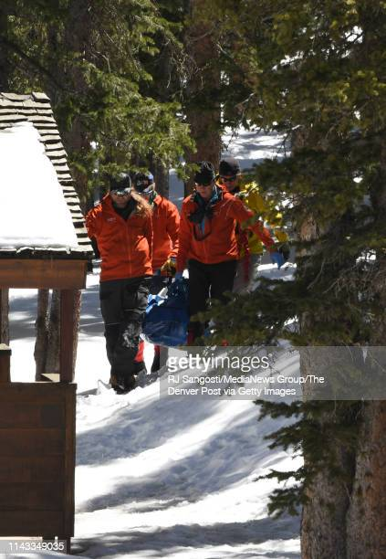 Members of an Alpine Rescue Team carry out the body of 18yearold Sol Pais near Echo Lake Campground in Arapaho National Forest on April 17 2019 in...