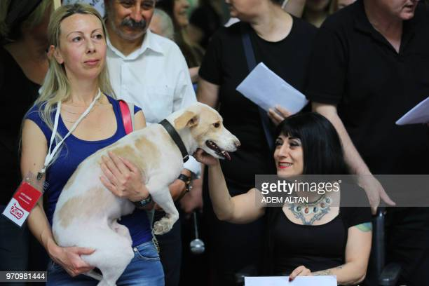 Members of an animal rights federation and animal rights defenders take part in a demonstration calling people and politicians to defend the animal...