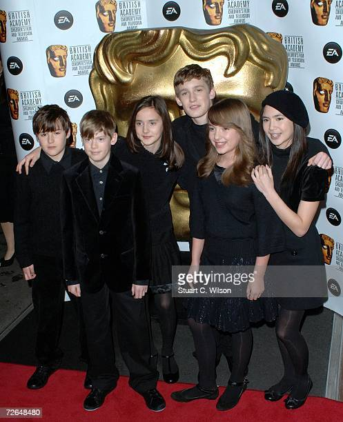 Members of 'Angelis' arrive for the British Academy Children's Film Television Awards 2006 at the Hilton Park Lane on November 26 2006 in London...