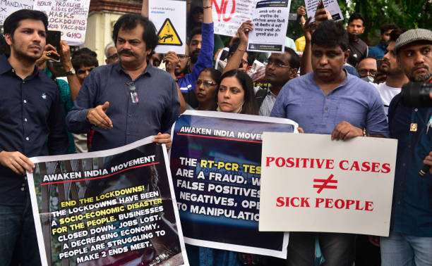 IND: NGO Awaken India Movement Protests Against Lockdown