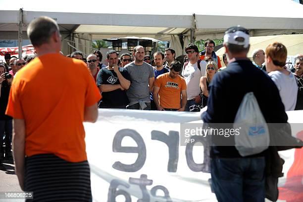 Members of Basque proindependence youth organization SEGI Egoi Alberdi Aitor Olaizola and Ekaitz Ezkerra pose during a protest against their...