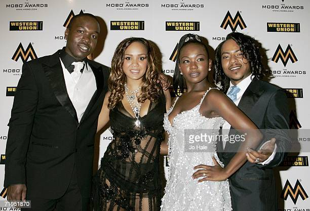 Members of Big Brovaz arrive at the MOBO Awards 2006 held at the Royal Albert Hall on September 20th 2006 in London England