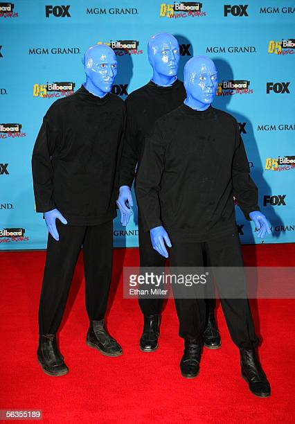 Members of Blue Man Group arrive at the 2005 Billboard Music Awards held at the MGM Grand Garden Arena on December 6 2005 in Las Vegas Nevada