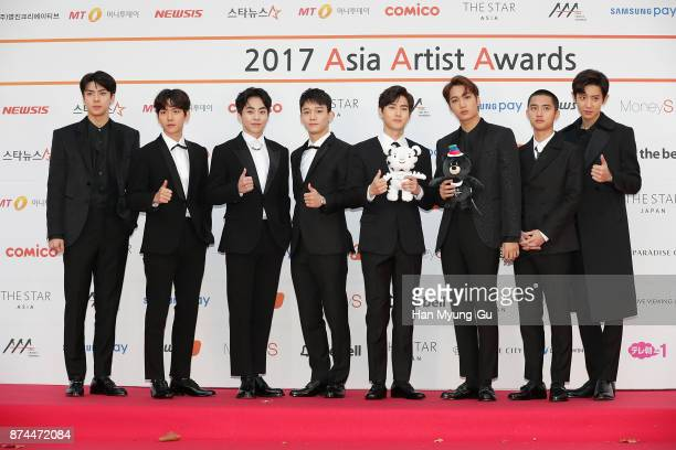 Members of Boy band EXO attend the 2017 Asia Artist Awards on November 15 2017 in Seoul South Korea