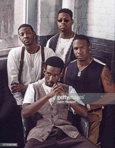 Members of Boys 2 Men pose for a portrait circa 1997 in Los Angeles California