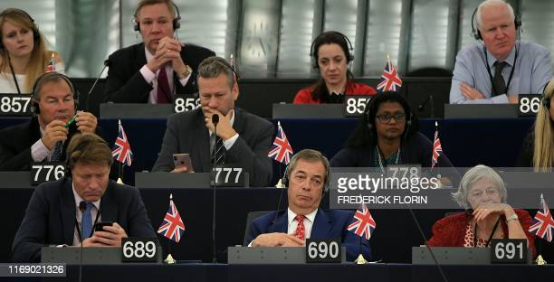 Members of Brexit Party: Lucy Elizabeth Harris, Jonathan Bullock, Annunziata Mary Reese-Mogg, Matthew Patten; Rupert Lowe, Nathan Gill, Christina...