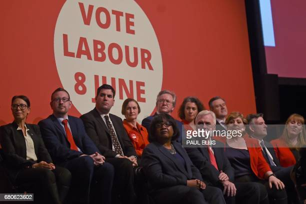 Members of Britain's opposition Labour party including Britain's opposition Labour party's Shadow Home Secretary Diane Abbott Britain's opposition...