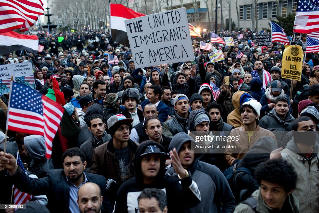 Brooklyn's Yemeni community protests immigration ban : News Photo