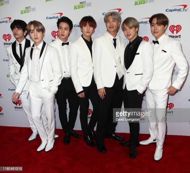 Members of BTS attend KIIS FM's Jingle Ball 2019 presented by Capital One at The Forum on December 06, 2019 in Inglewood, California.