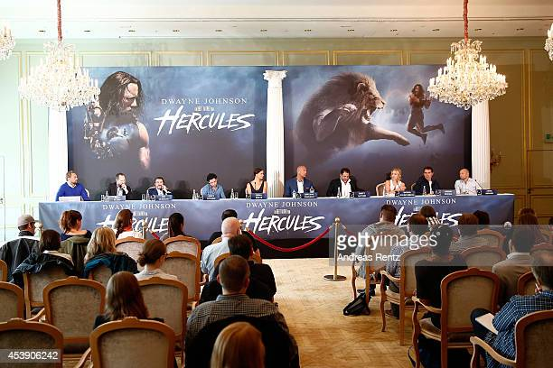 Members of Cast and Crew attend the press conference of Paramount Pictures 'HERCULES' at Hotel Adlon on August 21, 2014 in Berlin, Germany.