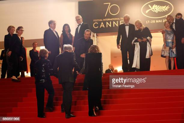 Members of cast and crew including Nabiha Akkari, Mathieu Kassovitz, Marianne Hoepfner, Jean-Louis Trintignant, Isabelle Huppert, director Michael...