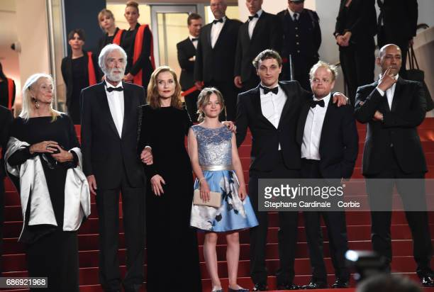 Members of cast and crew including Nabiha Akkari Mathieu Kassovitz Marianne Hoepfner JeanLouis Trintignant Isabelle Huppert director Michael Haneke...