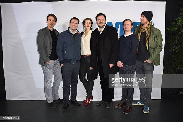 Members of cast and crew including Ralf Husmann Arne Feldhusen Natalia Belitski Michael Maertens and Charly Huebner attend the premiere of 'Vorsicht...