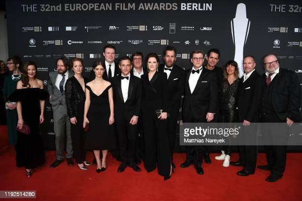 Members of Cast and Crew of 'Babylon Berlin' attend the 32nd European Film Awards at Haus Der Berliner Festspiele on December 07, 2019 in Berlin,...