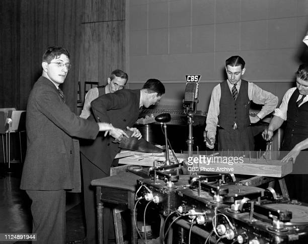 Members of CBS Radios' Columbia Workshop sound effects including Bernard Herrmann George ODonnell Figure 3 Unidentified Jerry Sullivan and Jimmy...