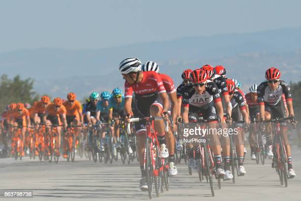 Members of CCC Sprandi Polkowice Team in the queue of the peloton, during the fifth stage - the 166 km Vestel Selcuk to Izmir, the second last stage...