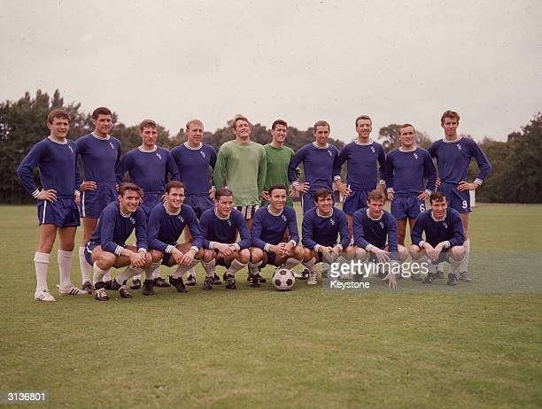 Members of Chelsea football team including John Hollins and Ron Harris Peter Bonetti and Terry Venables
