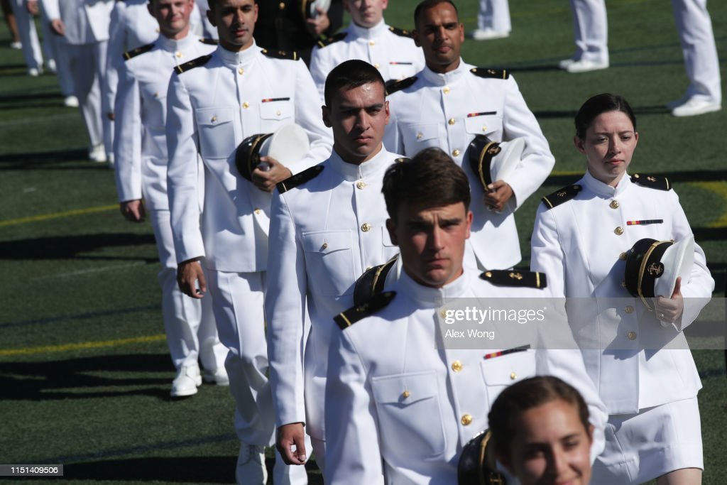 MD: Naval Academy Cadets Attend Graduation In Annapolis, Maryland