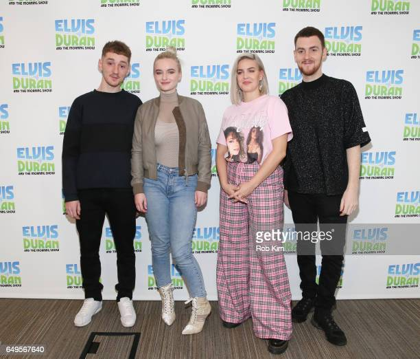 Members of Clean Bandit Luke Patterson Grace Chatto AnneMarie and Jack Patterson visit 'The Elvis Duran Z100 Morning Show' at Z100 Studio on March 8...